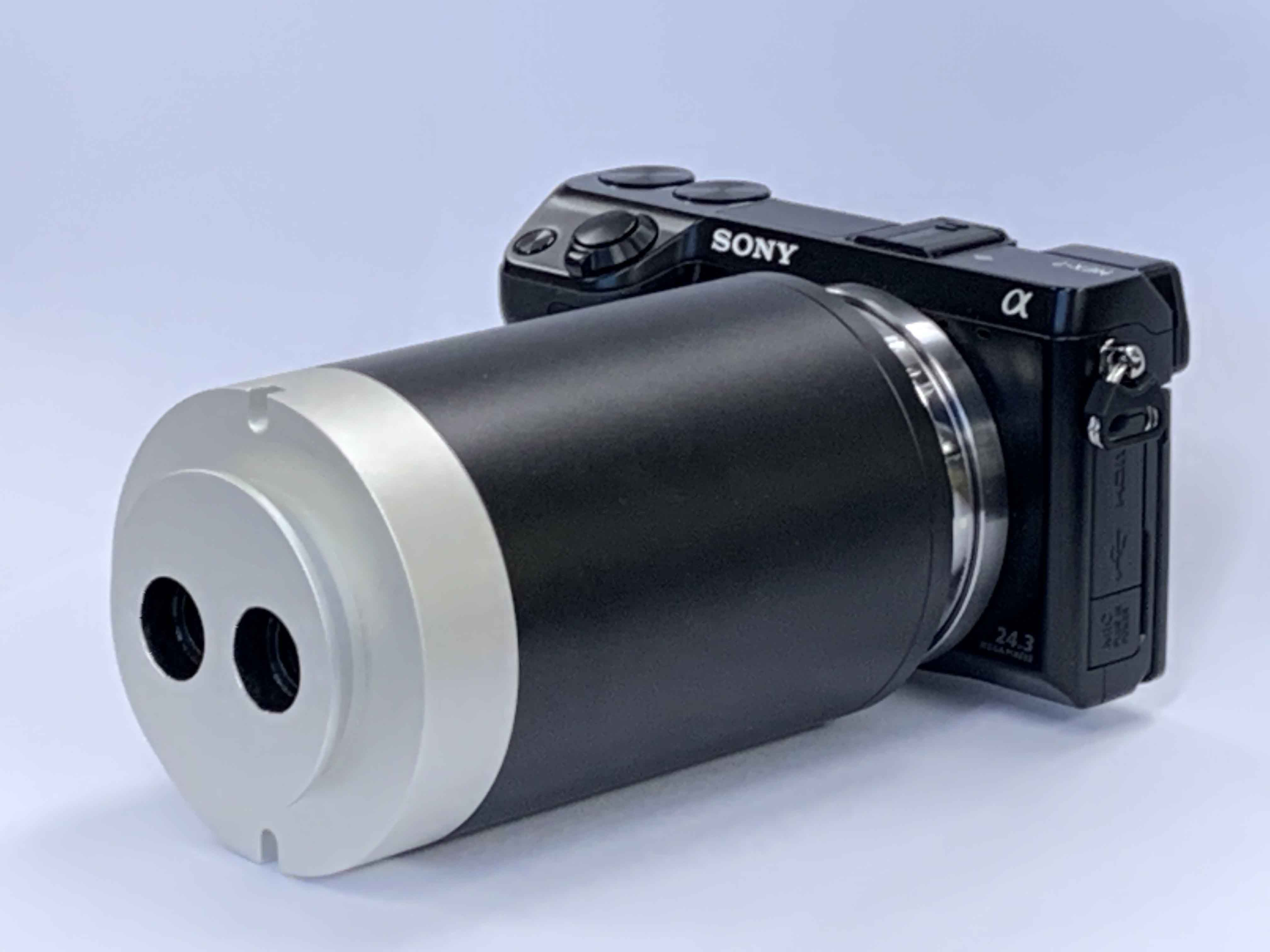 3D tube with mirrorless camera